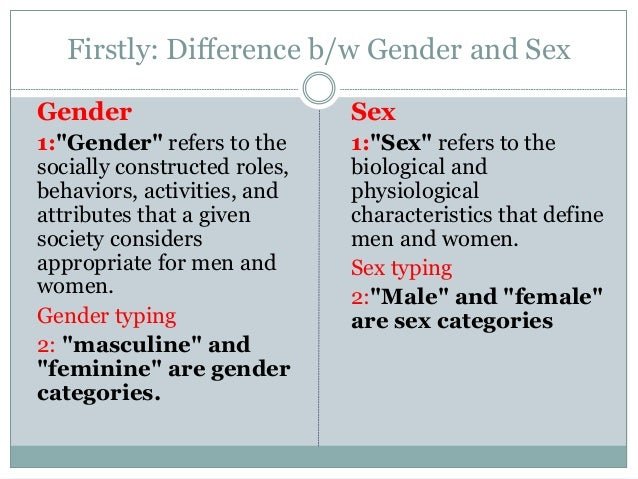 Difference between sexuality and gender