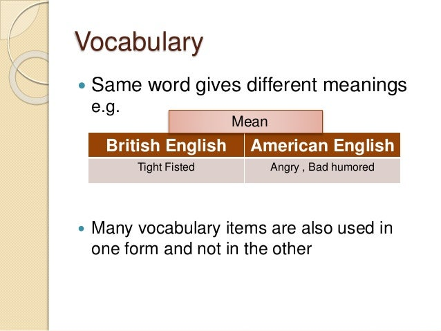 Differences between american english and british english for Meaning of terrace in english