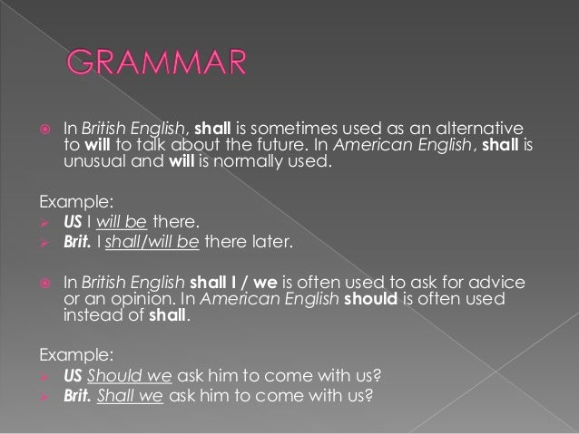 Differences Between American English and British English (Leyla Rashi…