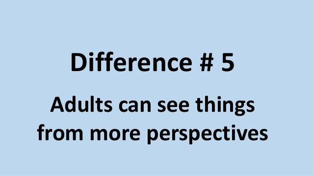 differences between adult and child learning Learn the difference between add and adhd  a child or adult must meet the following criteria to be diagnosed with  or a learning disability may worsen symptoms.