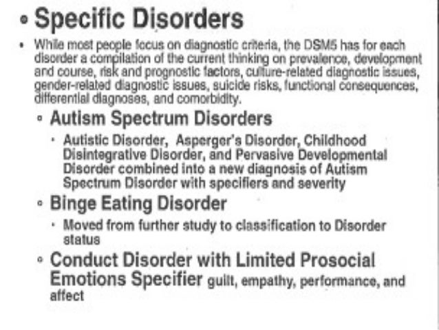 Differences Between Dsm Iv And Dsm5 In Child Psychiatry