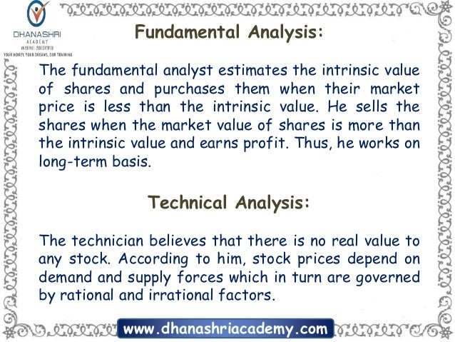 Differences between Fundamental Analysis and Technical Analysis