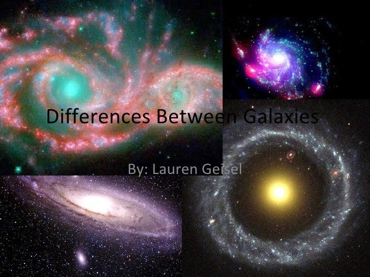 Differences Between Galaxies  By: Lauren Geisel