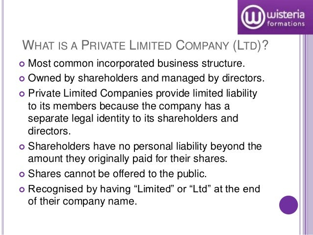 private enterprise versus one member limited Getting to know the pty ltd  a private company may be incorporated with only  one member and may not have  this converts the private company into a public  company or an acquisition of a  related: tax basics for business owners.