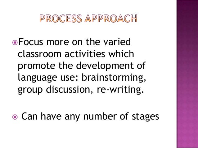 product approach in writing