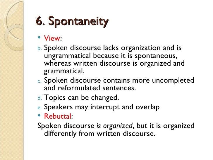 spoken discourse