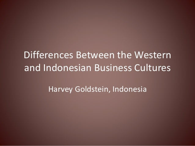 Differences Between the Western and Indonesian Business Cultures