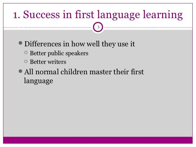 first second language acquisition affects Learning on first language literacy skills in this paper, we present and discuss the results of recent research on the effects of second language learning on first language skills as.