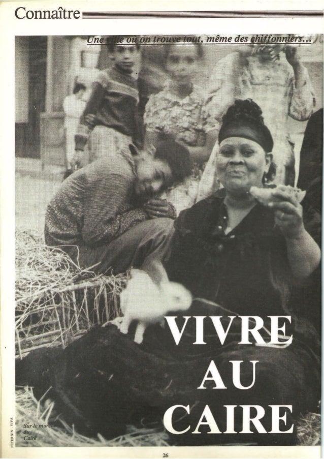 Vivre au Caire - Différences, juin 1983