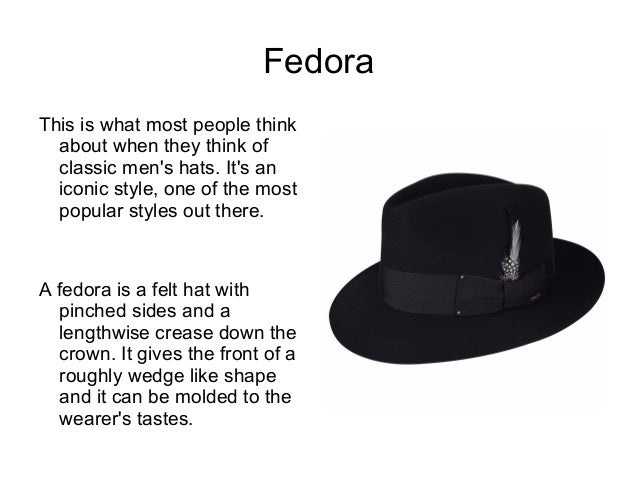 Different Types of Hats With Pictures