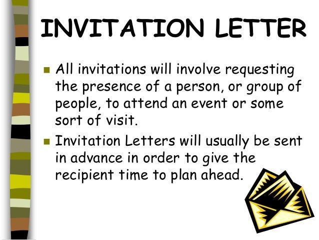 Different types of letter invitation letter stopboris Gallery