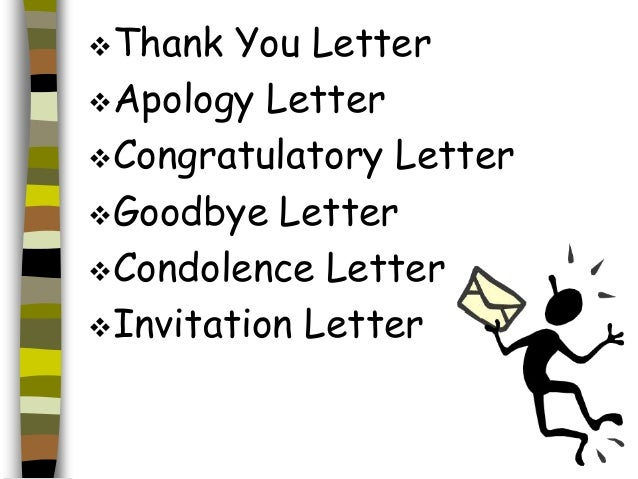 Different types of letter