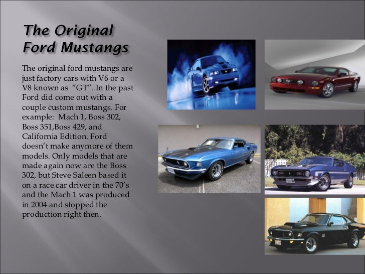 Types Of Mustangs >> Different Types Of Mustangs