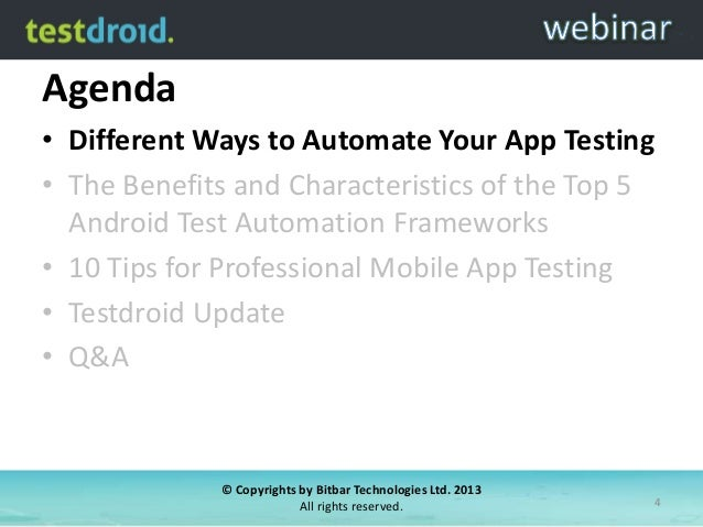 Mobile Testing Automation Framework – Choose The Right One ...