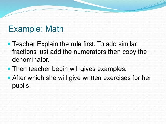 problem solving method of teaching mathematics with examples