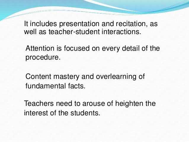 steps in direct instruction method of teaching