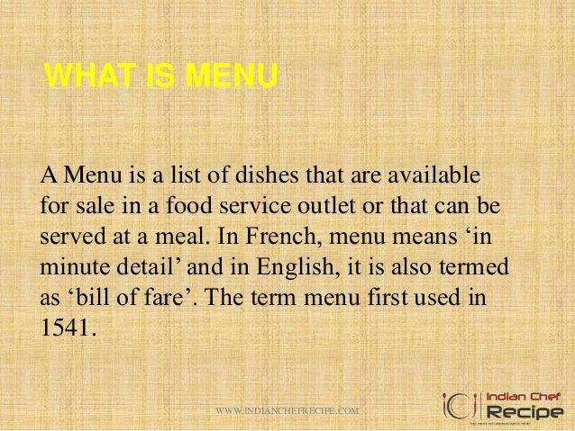 Different between table d hote and a la carte menu for Table d hote 52