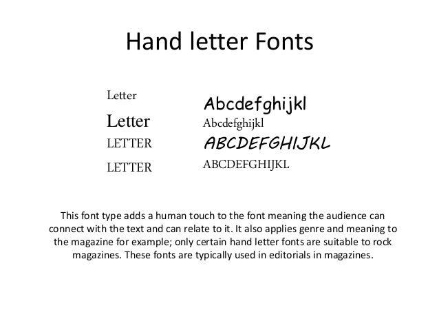 5 hand letter fonts