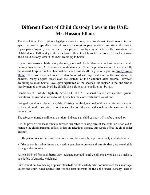 sharia law child custody