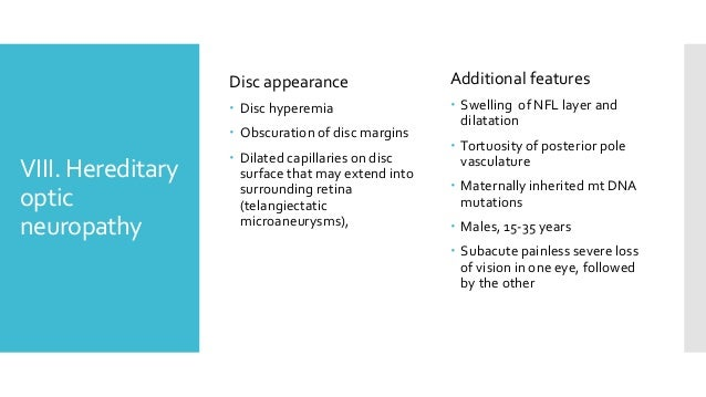 Differential Diagnosis Of Disc Edema