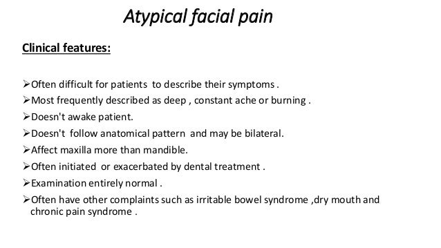 Facial pain differential