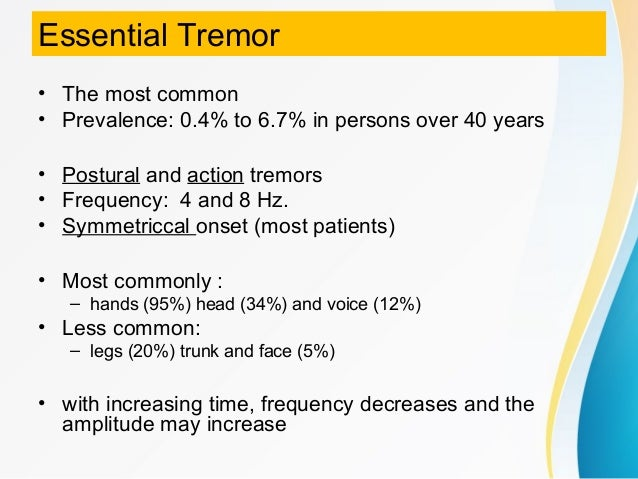 Types of tremor