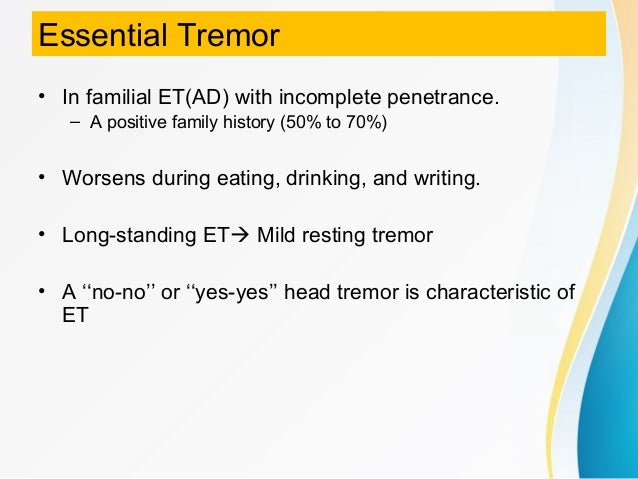Classification of Tremor and Update on Treatment