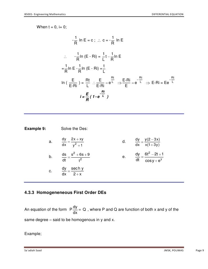 Differential equation polimas page 8 9 b5001 engineering mathematics differential equation sciox Choice Image