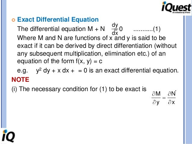 EXAMPLES; 16.  Exact Differential ...