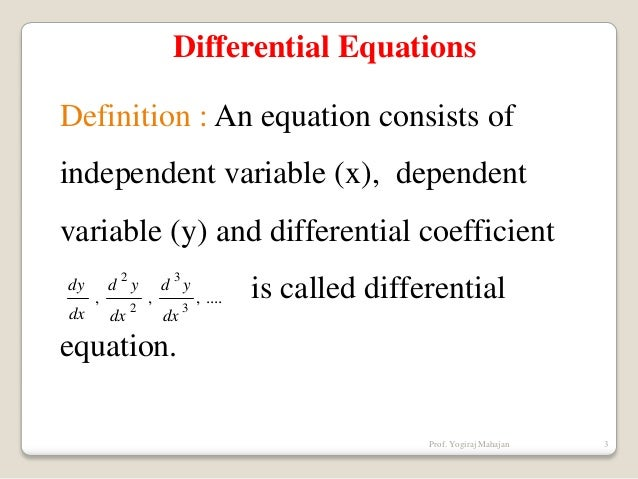 Wonderful Differential Equations Definition ...
