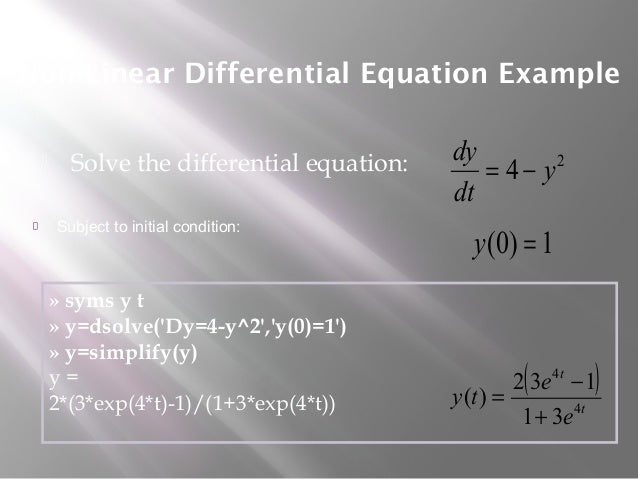 Differential equation & laplace transformation with matlab