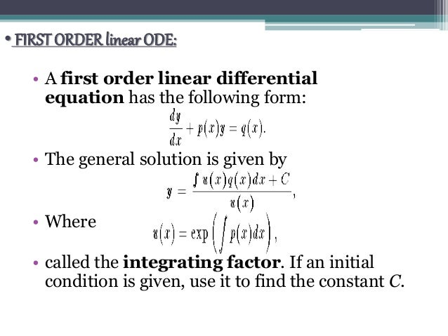 Manual First-Order Ordinary Differential Equations