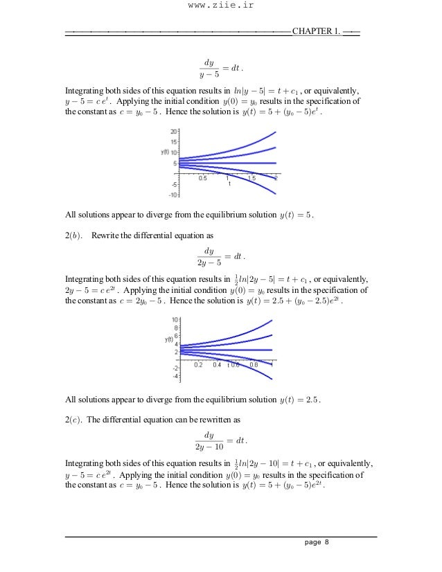 differential equations boyce and diprima solutions pdf