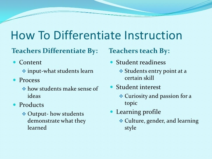 Differentiated Instruction Strategies For Kindergarten User Guide