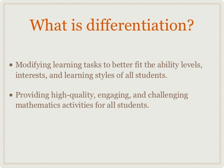 differentiated instruction learning styles