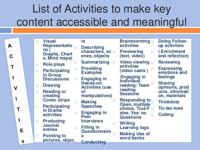 Differentiated Instruction Reading Activities User Guide Manual