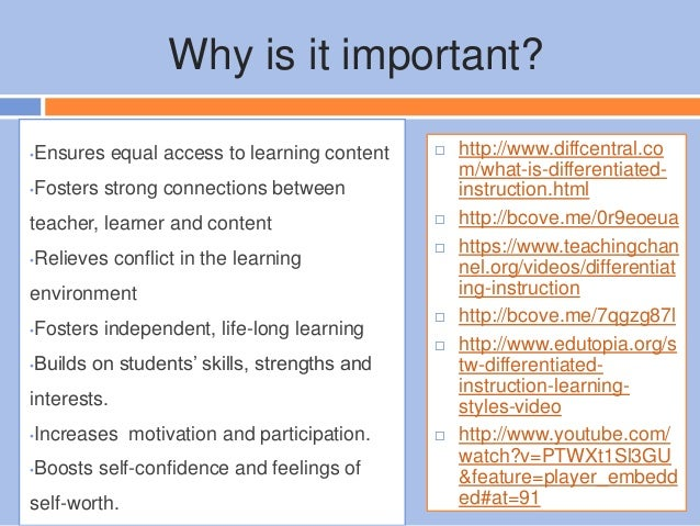 The Importance of Differentiated Instruction in Any ...