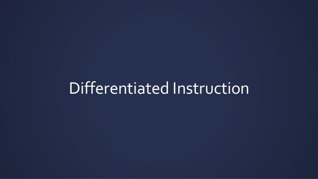 Differentiated Instructionmmer Workshop2015