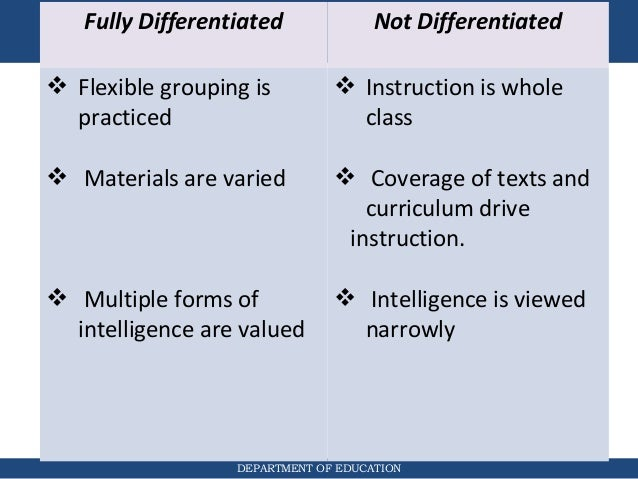 problems with differentiated instruction