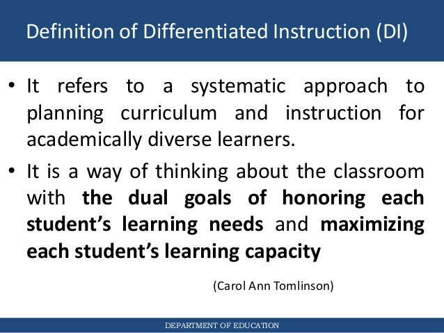how do you differentiate instruction to meet the needs of diverse learners
