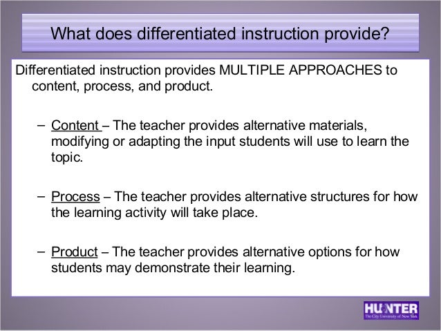 Differentiated Instruction For Ells