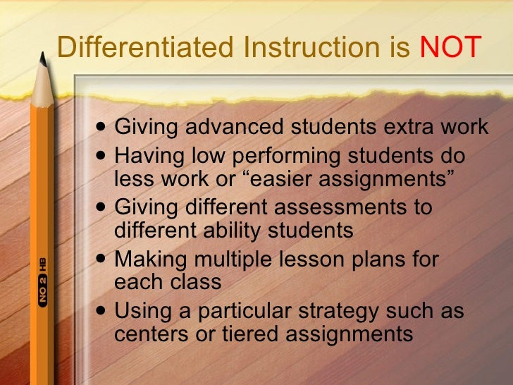 Differentiated Instruction For Saturday1a