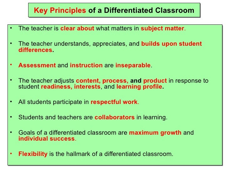 Pdf Relevance Of Differentiated Instructions In English Classrooms
