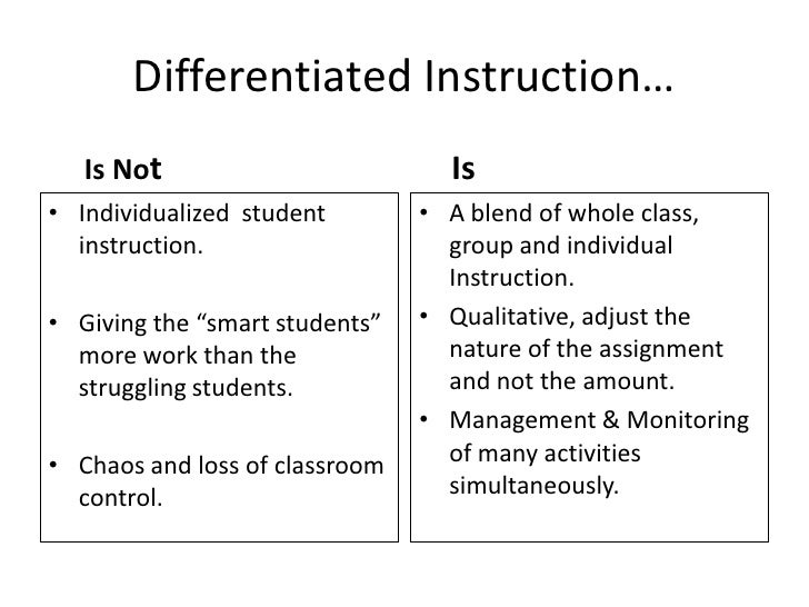 Differentiated Instruction Ppt Presentation Owners Manual Book
