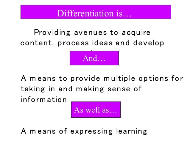 how to use differentiated instruction