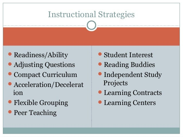 Differentiated Instruction And Effective Strategies