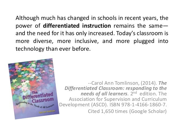 Architecting the Promise of Differentiated Instruction ...