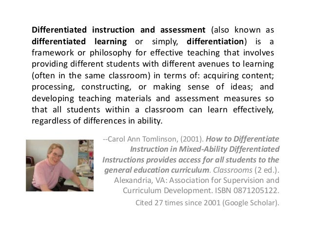 Differentiated instruction - Wikipedia