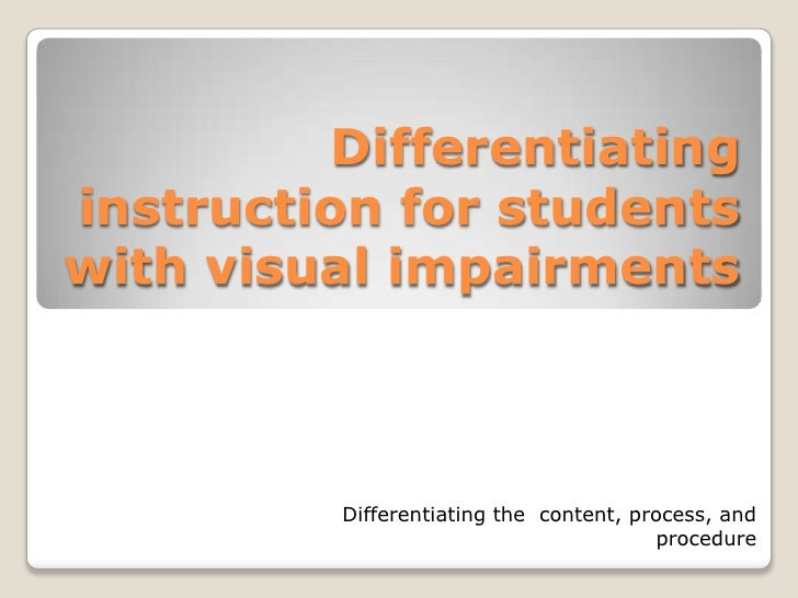 differentiate instruction for students