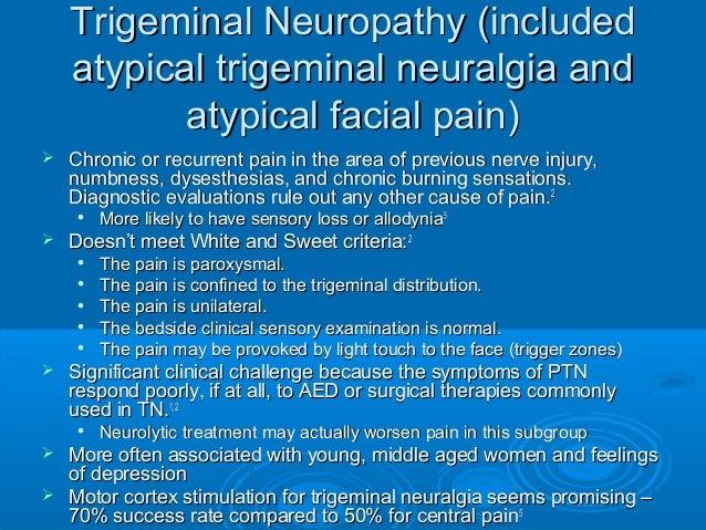 burning and Facial numbness